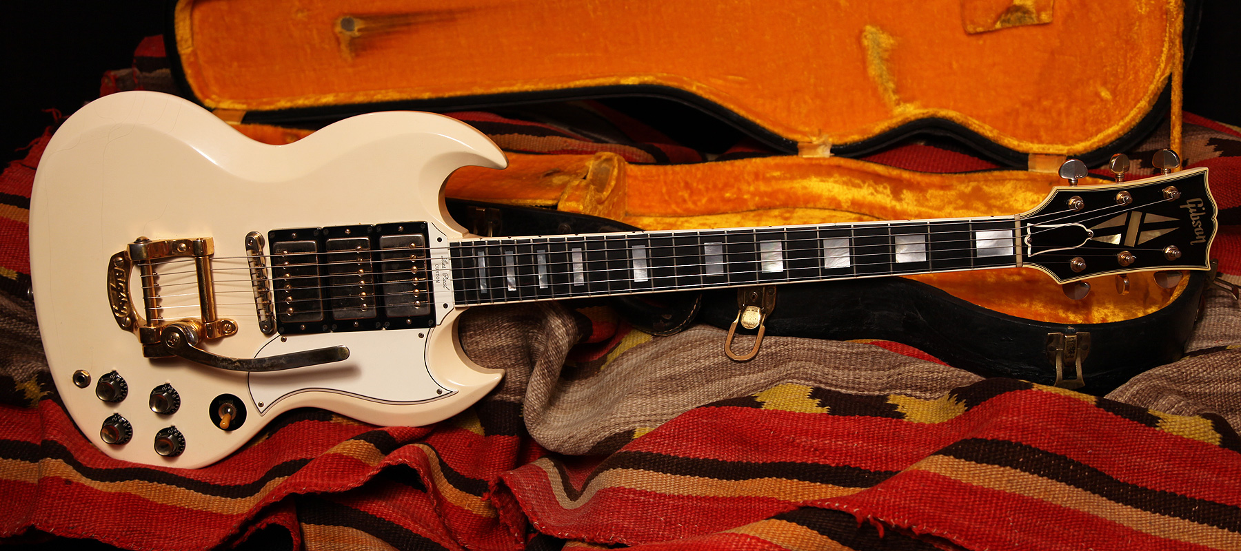 1962 gibson sg les paul custom rumble seat music. Black Bedroom Furniture Sets. Home Design Ideas