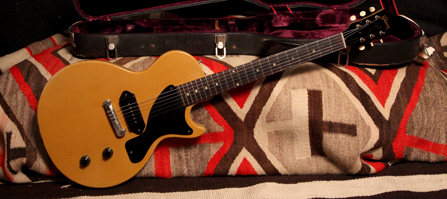 Gibson 1958 Les Paul Jr Tv Yellow Front Rumble Seat Music