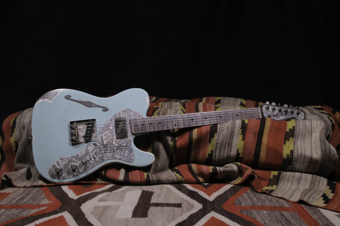 This Trussart Steelcaster Is Extremely Unique And A Prime Example Of His Work Features Relic Seafoam Green Finish Stained Gray Maple Neck